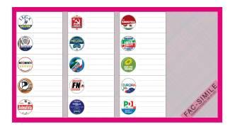 Circoscrizione III, scheda elettorale fucsia
