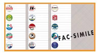 Circoscrizione IV, scheda elettorale arancione