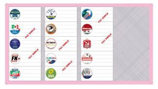 Circoscrizione V, scheda elettorale rosa