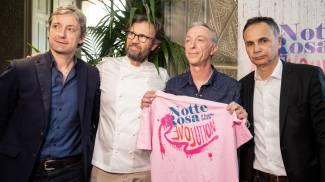 ll sindaco di Rimini Gnassi, Carlo Cracco, Linus e l'asessore regionale al turismo Corsini