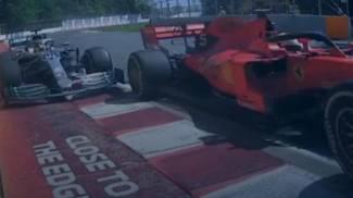 La manovra di rientro di Vettel costata la penalizzazione (Ansa)