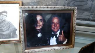 Zeffirelli con Michael Jackson, in una delle tante foto nella casa di Roma