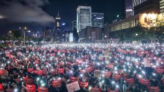 Free Hong Kong, manifestazione di piazza (Epa Ansa)