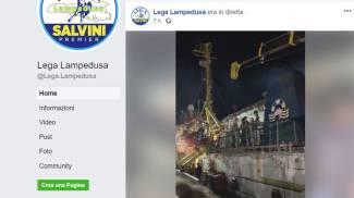 Un frame del video con gli insulti a Carola Rackele postato da Lega Lampedusa (Dire)
