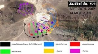 Assalto all'Area 51 nel Nevada (facebook)