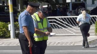 I rilievi dell'incidente avvenuto sul lungomare di Lido di Camaiore al confine con Focette
