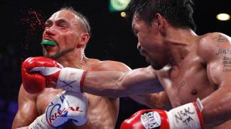 Manny Pacquiao stende Keith Thurman (Ansa)