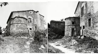 A sinistra, la cappellina dove vennero staccati gli affreschi (foto del 1969)