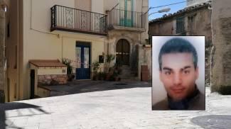 Il luogo del delitto e, nel riquadro, Salvatore Russo, fermato dai carabinieri