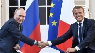 Putin e Macron (Epa Ansa)