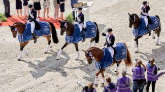 Germany gets Dressage gold again on roller-coaster day in Rotterdam