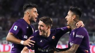 Fiorentina-Napoli, esultanza per il gol di Pulgar (Germogli)