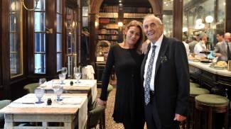 Una foto dello chef Giacomo Bulleri insieme alla figlia Tiziana (Ansa)