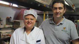 Alessandra ed Emiliano Eusepi, del ristorante Agli Olivi di Cartoceto