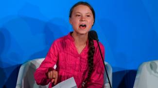 Greta Thunberg all'Onu (Lapresse)