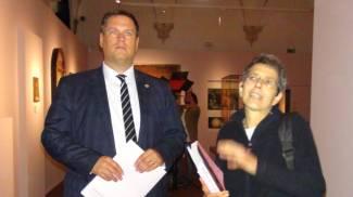 Da sinistra, Peter Aufreiter e Barbara Agosti