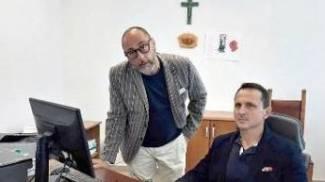 Luigi Prunella e il procuratore, Luca Bertuzzi, che hanno risolto il caso