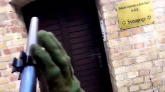 Un frame del video pubblicato dall'attentatore di Halle