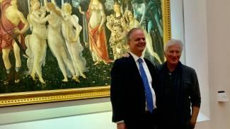 Richard Gere con Eike Schmidt