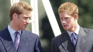 William e Harry in una foto del 2004 (Ansa)