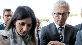 Virginia Raggi e Nicola Morra al processo per Mafia Capitale (Lapresse)