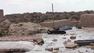 Tromba d'aria in Salento, i danni a Porto Cesareo (foto Dire)