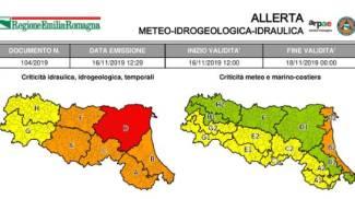 Allerta rossa in Emilia Romagna