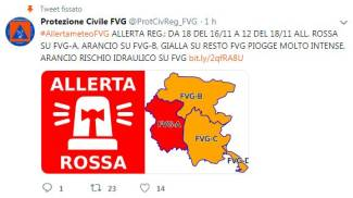 Allerta rossa in Friuli Venezia Giulia