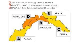 L'allerta meteo in Liguria