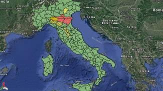 Allerta meteo della Protezione civile: la mappa per il 29 novembre
