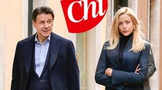 Il premier Giuseppe Conte fa la spesa con Olivia Paladino (Ansa)
