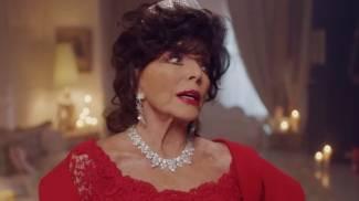 Joan Collins veste Valentino: spot natalizio