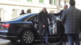 L'arrivo di Mattarella a Livorno (Foto Novi)