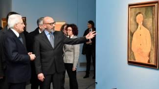 Mattarella in visita alla mostra