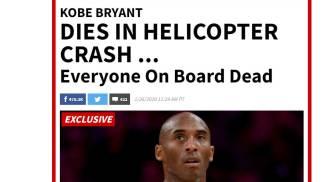 Kobe Bryant, la notizia della morte sul sito di Tmz