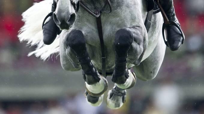 Una gara di salto ostacoli
