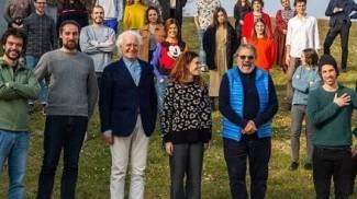 La foto delle polemiche: le Sardine con Luciano Benetton