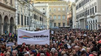 La manifestazione delle Sardine a Roma (ImagoE)