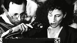 Rosaria Costa, vedova di Vito Schifani, nel j'accuse agli assassini del marito (Ansa)