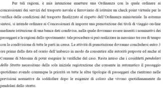 La richiesta del sindaco di Messina