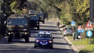 I camion militari a Firenze (Fotocronache Germogli)