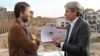 Il ministro Franceschini con il sindaco Andrea Gnassi
