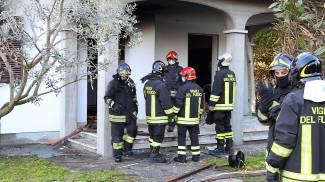 Esplosione in una villetta a Cotignola (Scardovi)