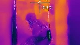 Le immagini dei vigili del fuoco riprese con la termocamera