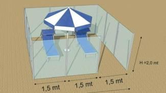 L'idea del box di plexiglass bocciato dagli operatori riminesi