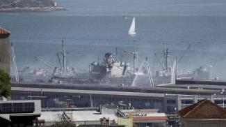 San Francisco, i pompieri hanno salvato la SS Jeremiah O'Brien dal fuoco (Ansa)
