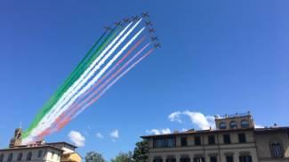 Le Frecce Tricolori su Firenze