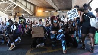 Black Lives Matter: proteste anche a Londra per Floyd (Ansa)