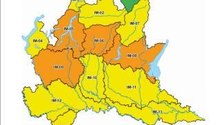 La mappa dell'allerta della Protezione Civile Lombarda