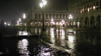 Acqua alta a Venezia, foto da twitter, Comune di Venezia